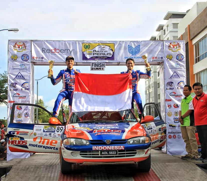 Evalube Go International, Dukung Julian Johan Turun di Rally of Perlis 2018