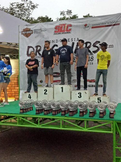 Evalube Dukung Tim Jelitas Motor Sabet Podium Satu Drag Race