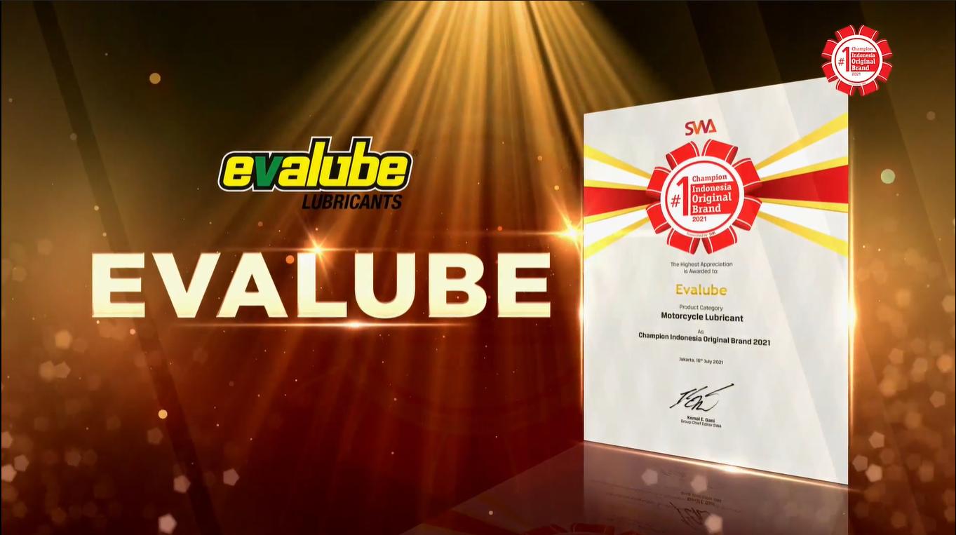 Evalube Kembali Raih Indonesia Original Brand (IOB) Di Tahun Ini